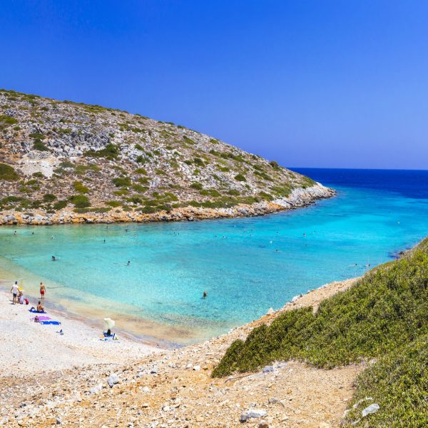 wonderful wild beaches of Greece. small island Konoupa